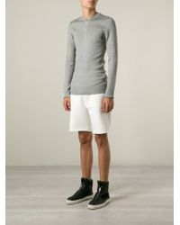 Dolce & Gabbana - Gray Fitted Ribbed Sweater for Men - Lyst