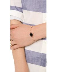 Marc By Marc Jacobs - Pink Classic Marc Skinny Bracelet - Black/rose Gold - Lyst