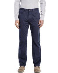 Weatherproof - Blue Canvas Five-Pocket Twill Pants for Men - Lyst