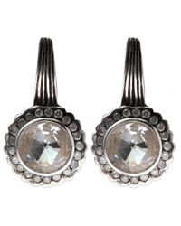 Stephen Dweck - Metallic Silver Rock Crystal And Diamond Scallop Earrings - Lyst