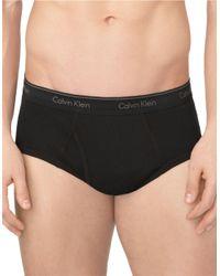 Calvin Klein | Black Solid Brief Set - 4 Pack for Men | Lyst