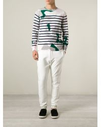 Sacai - White Tapered Track Pant for Men - Lyst