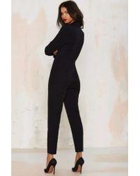 Nasty Gal | Black Like A Boss Tuxedo Jumpsuit | Lyst