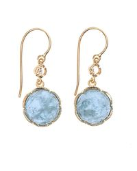 Irene Neuwirth | Metallic Diamond, Aquamarine & Gold Earrings | Lyst