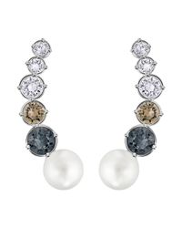 Swarovski | Metallic East Earrings | Lyst