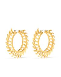 Eddie Borgo | Metallic Chevron Hoop Earrings | Lyst