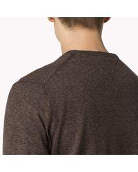 Tommy Hilfiger | Brown Wool V-neck Sweater for Men | Lyst