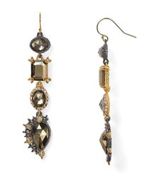 Alexis Bittar | Metallic Elements Crystal Studded Spur Trimmed Pyrite Doublet Earrings | Lyst