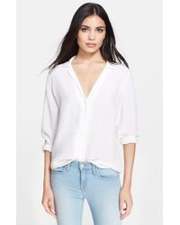 Equipment | White 'adalyn' Silk Blouse | Lyst