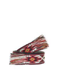 Étoile Isabel Marant - Red Upton Woven Belt - Lyst