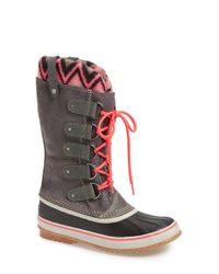 Sorel | Black Joan Of Arctic - Knit II Snow Boots | Lyst