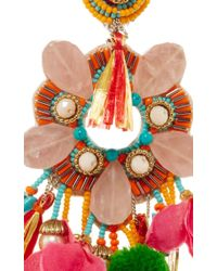Ranjana Khan | Multicolor Rose Quartz Fringe Earrings | Lyst