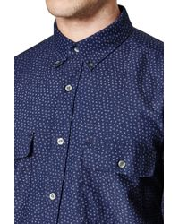 French Connection | Blue On The Road Floral Oxford Shirt for Men | Lyst