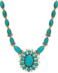 Lauren by Ralph Lauren - Blue Gold-Tone Turquoise Navajo Pendant Necklace - Lyst