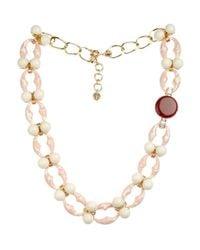 Valentina Brugnatelli | Pink Ornella Swarovski & Crystal Necklace | Lyst