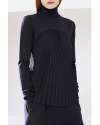 Chalayan | Gray Merino Sunray Sweater | Lyst