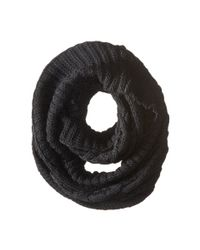 MICHAEL Michael Kors - Black Hand Knit Large Infinity Scarf - Lyst