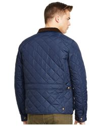 Polo Ralph Lauren | Blue Quilted Bomber Jacket for Men | Lyst