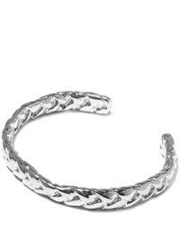 Jennifer Fisher | Metallic Small Silver-plated Braid Patterned Thin Cuff | Lyst