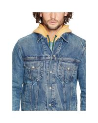 Denim & Supply Ralph Lauren - Blue Lined Denim Trucker Jacket for Men - Lyst