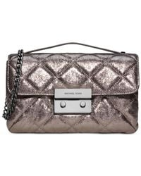 Michael Kors | Metallic Michael Sloan Small Quilted Messenger Bag | Lyst