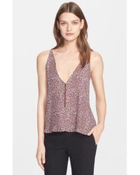 VEDA | Purple 'brice' Silk Camisole | Lyst