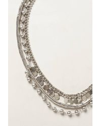 Anthropologie - Metallic Serenata Layered Necklace - Lyst
