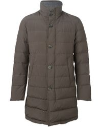 Herno - Gray Padded Jacket - Lyst