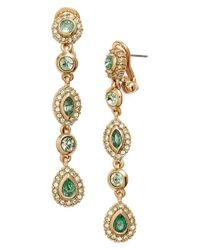 Givenchy   Metallic Linear Drop Crystal Earrings   Lyst