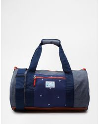 Original Penguin - Blue Duffle Bag In Colourblock for Men - Lyst