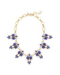 J.Crew - Blue Brilliant Stones Necklace - Lyst