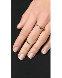 Joomi Lim - Metallic Sphere And Midi Ring Set - Rose Gold - Lyst