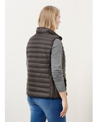 Violeta by Mango - Gray Quilted Gilet - Lyst