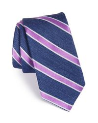 Ted Baker | Blue 'tussah Stripe' Silk Tie for Men | Lyst