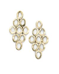 Ippolita | Metallic Glamazon Sculptural Metal 18k Yellow Gold Open Cascade Earrings | Lyst