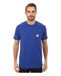 Carhartt | Blue Force Cotton S/s T-shirt for Men | Lyst