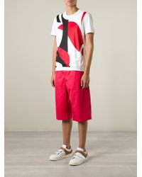 Alexander McQueen - Red Loose Fit Shorts for Men - Lyst