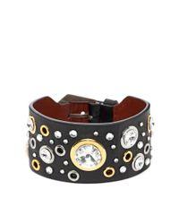 Alexander McQueen - Black Studded Bracelet - Lyst