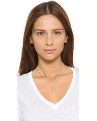 Marc By Marc Jacobs | Metallic Smiley Logo Pendant Necklace - Argento | Lyst