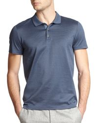 Theory | Blue Boyd Pinstriped Mercerized Cotton Polo for Men | Lyst