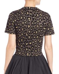 Marc By Marc Jacobs - Metallic Leopard-print Cropped Top - Lyst