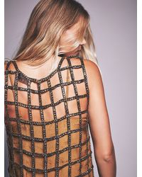 Free People - Brown Womens Sequin Shell Dress - Lyst