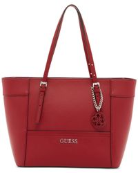 Guess | Red Delaney Small Classic Tote | Lyst