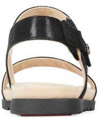 Anne Klein   Black Viewer Two-Piece Flat Sandals   Lyst