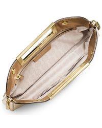 MICHAEL Michael Kors | Metallic Berkley Large Leather Clutch | Lyst