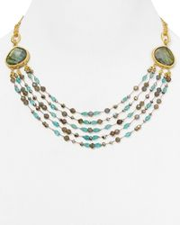 "Coralia Leets - Metallic Floating Multi Strand Necklace, 18"" - Lyst"