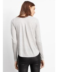 Vince | Gray Shirttail Long Sleeve Tee | Lyst
