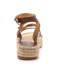 Splendid - Brown Erin Double Espadrille Sandals - Cognac - Lyst