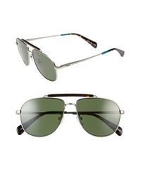 TOMS | Metallic 'booker' 58mm Aviator Sunglasses | Lyst