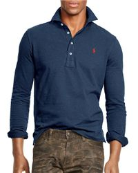Polo Ralph Lauren | Blue Long-sleeved Mesh Estate Shirt for Men | Lyst